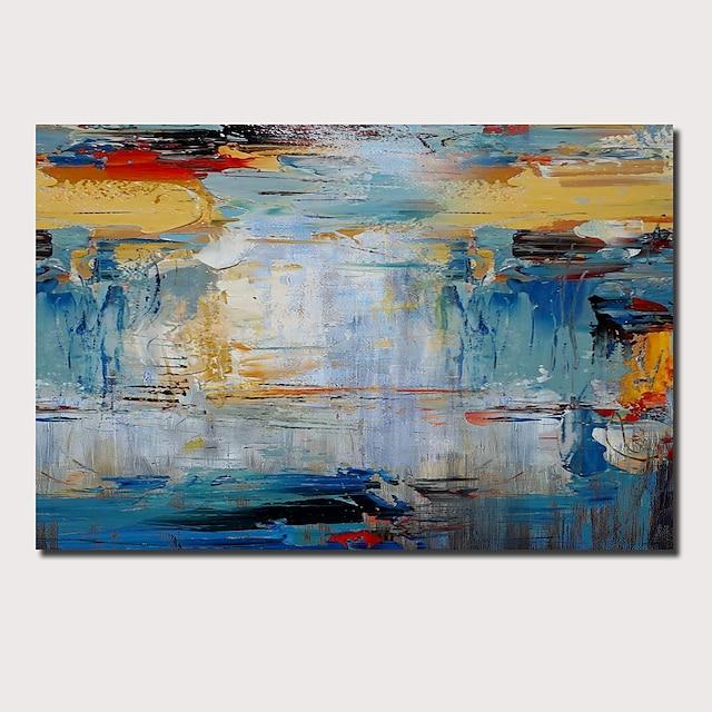 ציור שמן בעבודת יד ציור קיר אומנות מופשטת פופ ארט קישוט לבית מודרני מסגרת מתוחה מוכנה לתליה