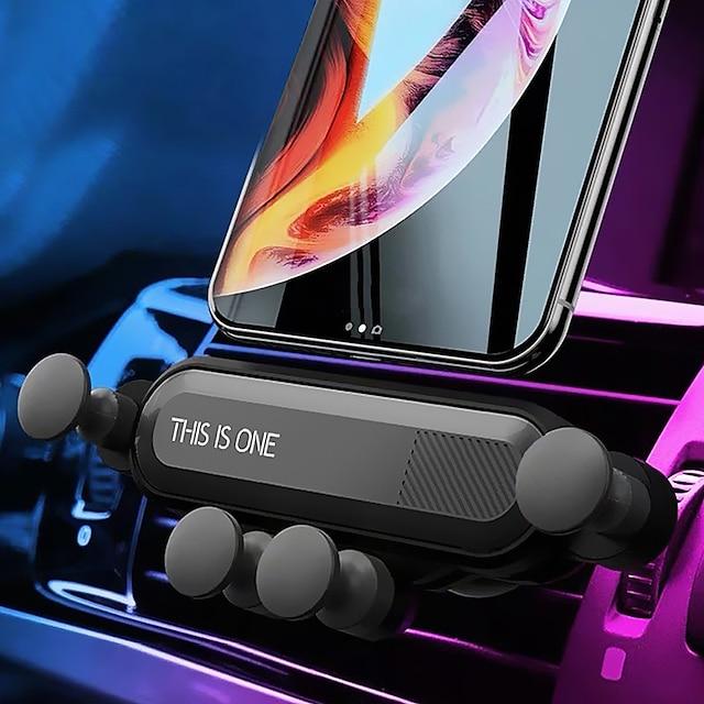 Telefon Tutucu Stand Montajı Araba Hava Çıkış Izgarası Yerçekimi Tipi Ayarlanabilir ABS Cep Telefonu Aksesuarları iPhone 12 11 Pro Xs Xs Max Xr X 8 Samsung Glaxy S21 S20 Note20