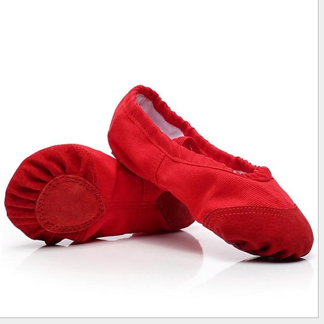 للفتيات أحذية باليه مسطح كعب مسطخ أبيض أسود أحمر