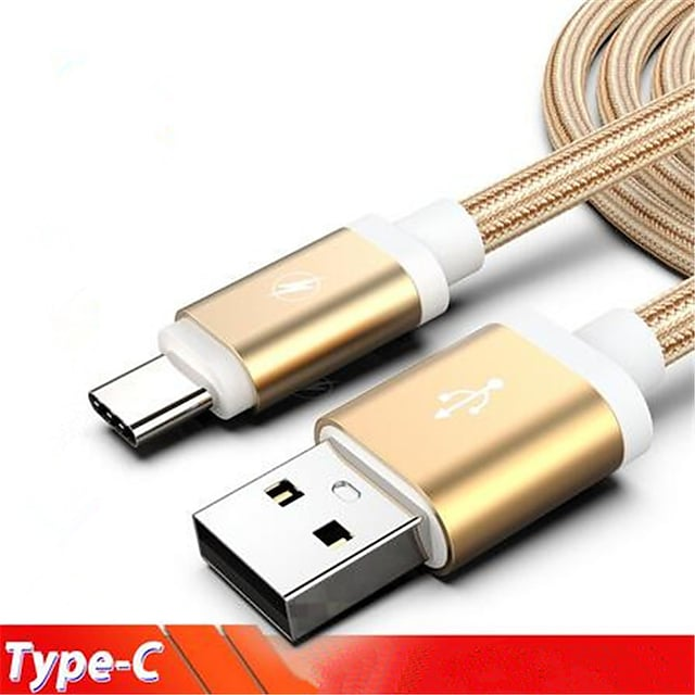 USB C Cable 2.0m(6.5Ft) Braided Nylon Type-C Cable For Samsung / Huawei