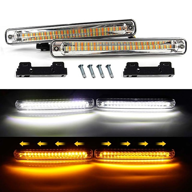2 szto. Samochód LED Światła do jazdy dziennej Włącz sygnał świetlny Żarówki SMD 3014 Na Univerzál Wszystkie roczniki