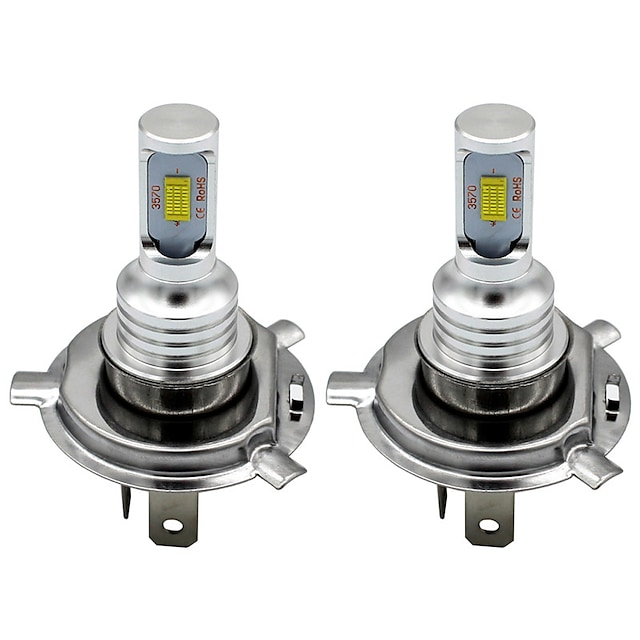 2 개 모터사이클 차 LED 안개등 주간 주행등 방향 지시등 H7 H4 H3 전구 4000 lm 80 W 6000-6500 k 2 제품 유니버셜