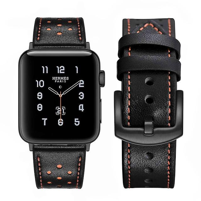 Умный ремешок для часов для Apple  iWatch 1 pcs Кожаный ремешок Натуральная кожа Замена Повязка на запястье для Apple Watch серии 7 / SE / 6/5/4/3/2/1 Apple Watch серии SE / 6/5/4/3/2/1 38мм 40