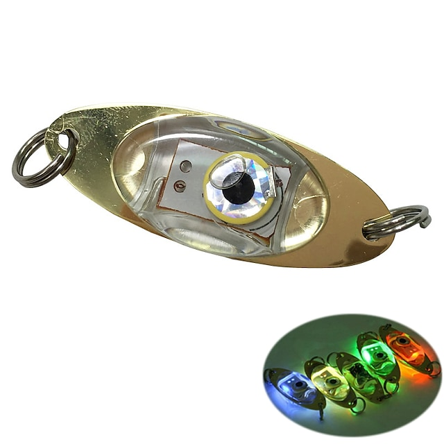 1 pièce Lampe de Pêche Blanc Rouge Bleu Vert Plastique Imperméable Lumineux Lampe LED Plongée / Plaisance Pêche 200-500 m