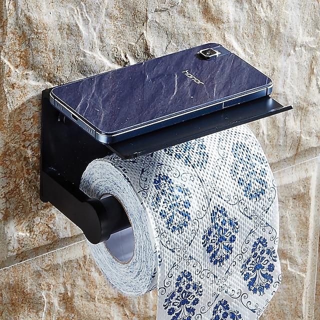 선반 alumium 합금 크리 에이 티브 현대 알루미늄 1pc와 화장지 홀더 휴대 전화 스토리지 디스펜서 스탠드에 대 한 벽 장착