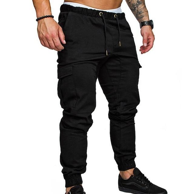 pánské běžné kalhoty chinos kalhoty streetwear tepláky jednobarevné plné kalhoty černá armáda zelená khaki světle šedá tmavě šedá