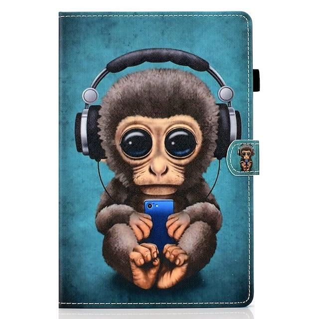 teléfono Funda Para Apple Funda de Cuerpo Entero Ipad aire iPad 4/3/2 iPad (2018) iPad New Air (2019) iPad 10.2''(2019) iPad Pro 10.5 iPad Air 2 iPad (2017) Soporte de Coche con Soporte Diseños Animal