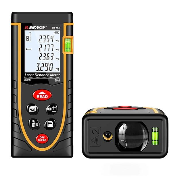 sndway sw-m50 misuratore di distanza laser digitale portatile 40m 635nm con distanza& misurazione dell'angolo