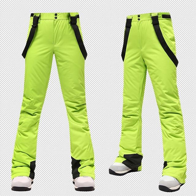 Women's Ski / Snow Pants Ski Bibs Thermal Warm Waterproof UV Resistant Wearable Autumn / Fall Pants / Trousers for Skiing Snowboarding Winter Sports