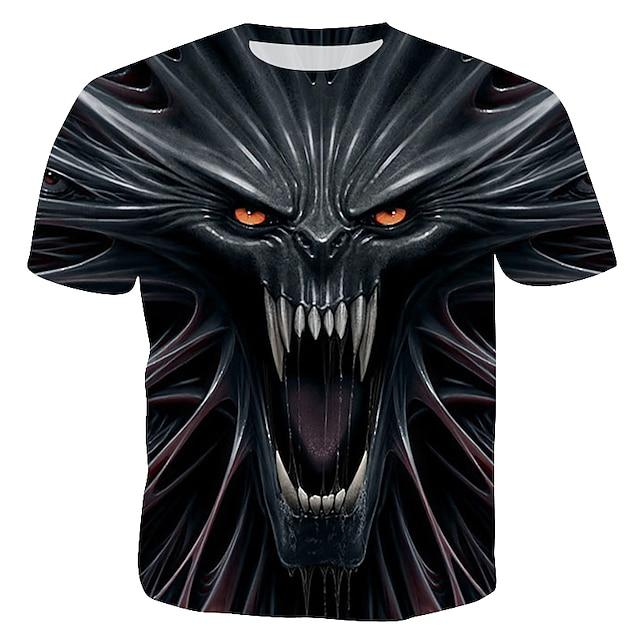 남성용 T 셔츠 그래픽 3D 프린트 짧은 소매 파티 탑스 레인보우