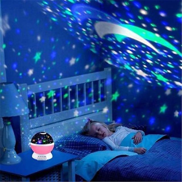 Luce del proiettore del cielo Cielo stellato e galassie Luce con cielo stellato Adorabile 5 V 4 batterie AAA Alimentazione USB Da bambino per regali di compleanno e bomboniere