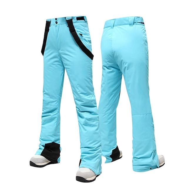 Men's Ski / Snow Pants Ski Bibs Waterproof Warm Wearable Winter Bib Pants for Snowboarding / Solid Colored / Women's