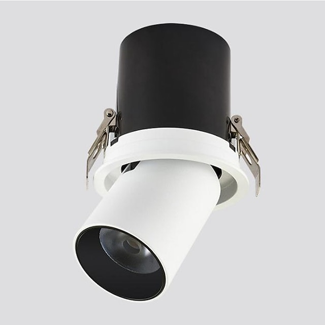 LED Embedded Telescopic Stretchable Spotlights Clothing Store Track Lights Gallery Museum Background Wall Skylight 7W