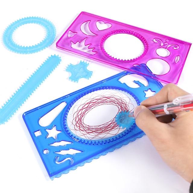 드로잉 장난감 Spirograph 플라스틱 및 금속 핸드메이드 아동용 어른' 생일 선물 또는 파티 호의