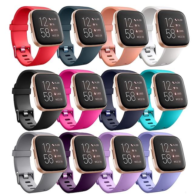 Smartwatch-Band für Fitbit 1 pcs Sportband Silikon Ersatz Handschlaufe für Fitbit Versa Fitbi Versa Lite Fitbit Versa 2 L S