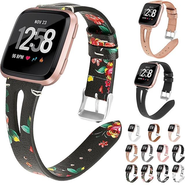 Akıllı Saat Bandı için Fitbit 1 pcs Klasik Toka İş grubu PU Deri Değiştirme Bilek Askısı için Fitbit Versa Fitbit Versa Lite Fitbit Versa 2