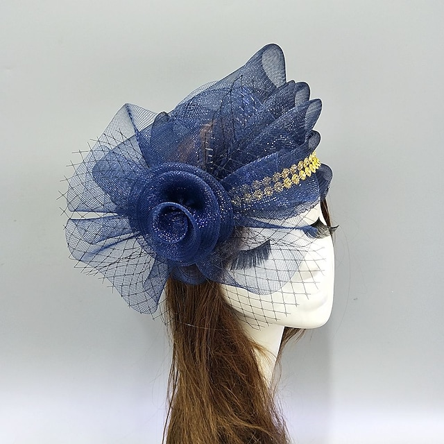 Feathers / Net Fascinators / Hats / Headwear with Bows / Cap / Floral 1 Piece Wedding / Special Occasion Headpiece