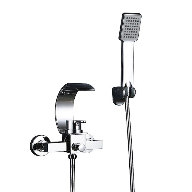 Vanová baterie - Moderní Pochromovaný Keramický ventil Bath Shower Mixer Taps