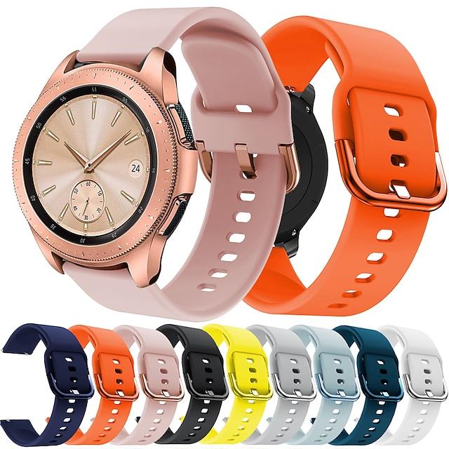 Smart Watch-band för TicWatch Samsung Amazfit 1 pcs Sportband Silikon Ersättning Handledsrem för Huawei Watch 2 Watch 2 Pro Huami Amazfit Bip Younth Watch Vivoactive 3 Samsung Galaxy Watch 46