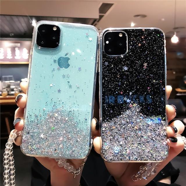 โทรศัพท์ กรณี สำหรับ Apple ปกหลัง iPhone 12 Pro Max 11 SE 2020 X XR XS Max 8 7 6 iPhone 11 Pro Max SE 2020 X XR XS Max 8 7 6 รูปแบบ แวววาวระยิบระยับ แวววาวระยิบระยับ TPU
