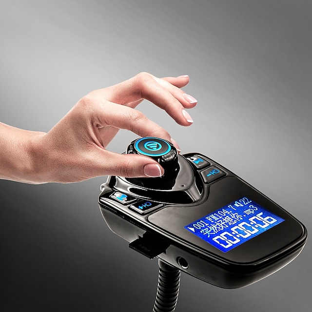 T10 FM 송신기 블루투스 핸즈프리 자동차 키트 MP3 음악 플레이어 라디오 어댑터 원격 제어 아이폰 / 삼성 LG 스마트 폰