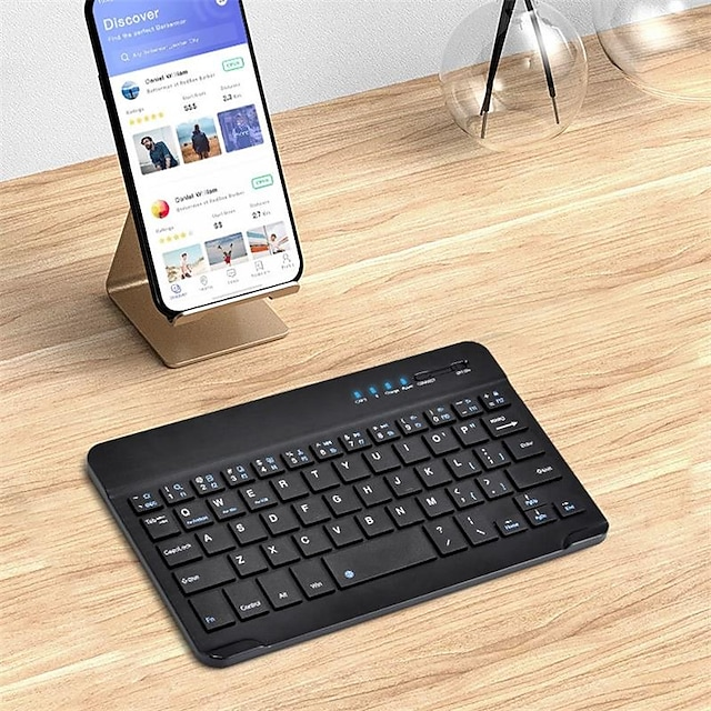 Bluetooth Office Keyboard Frosted / For Android OS / iOS / MAC Bluetooth3.0