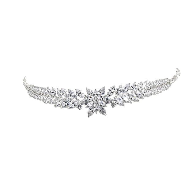 Cubic Zirconia Crown Tiaras with Rhinestone / Glitter / Metal 1pc Wedding / Birthday Headpiece