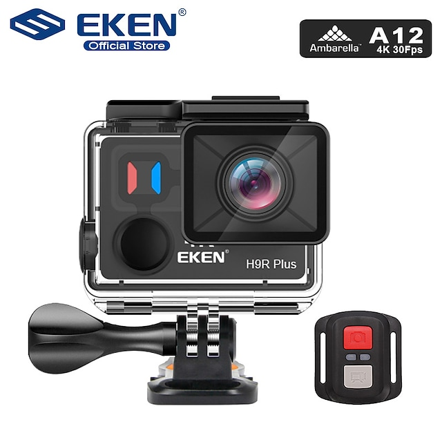 Eken EKEN H9R Plus 480p / 720p / 1080p Sans-Fil / Full HD DVR de voiture 170 Degrés Grand angle CMOS 2 pouce LCD Dash Cam avec Wi-Fi / Vision nocturne / Enregistrement en Boucle Enregistreur de