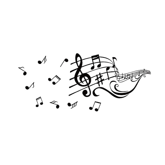 Creative Musical Notes Decorative Wall Stickers - Plane Wall Stickers Characters / Shapes Study Room / Office / Indoor