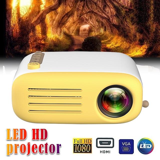 YG200 USB HDMI AV SD 미니 휴대용 HD LED LCD 프로젝터 비머 홈 미디어 영화 플레이어 지원 1080 마력 AV USB SD 카드 320x240 HDMI / USB / AV / Cvbs 홈 학교 사무실