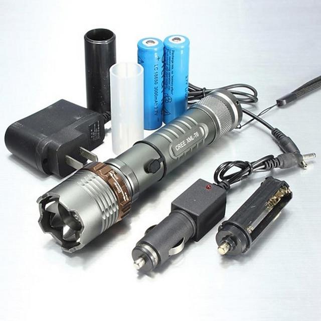 UltraFire 5 Φακοί LED Αδιάβροχη Zoomable 1000/1200/2000 lm LED LED 1 Εκτοξευτές 5 τρόπος φωτισμού με μπαταρία και φορτιστές Αδιάβροχη Zoomable Επαναφορτιζόμενο Ρυθμιζόμενη Εστίαση / Κράμα Αλουμινίου