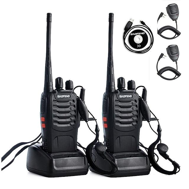BAOFENG BF-888S Talkie walkie Analogique Alarme d'urgence Avertissement Batterie Faible Logiciel PC Programmable Radio bidirectionnelle 5 - 10 km 5 - 10 km 2800 mAh 5 W