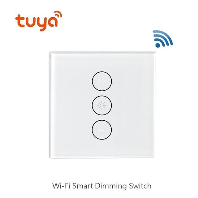 smart dimning / switch support / mobilapp fjärrkontroll / support alexa röststyrning / wifi dimning switch för vardagsrum / studie / sovrum led ljus / kreativ / trådlös användning trådlös