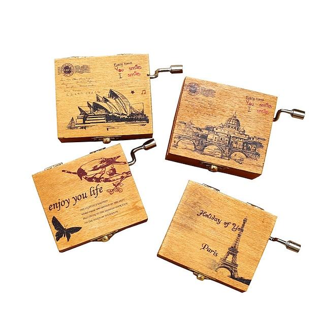 Zenedoboz Fából készült zene doboz Antik zene doboz Ünneő Retro Kreatív Egyedi Fa Női Összes Lány Gyermek Felnőttek 1 pcs Érettségi ajándékok Játékok Ajándék