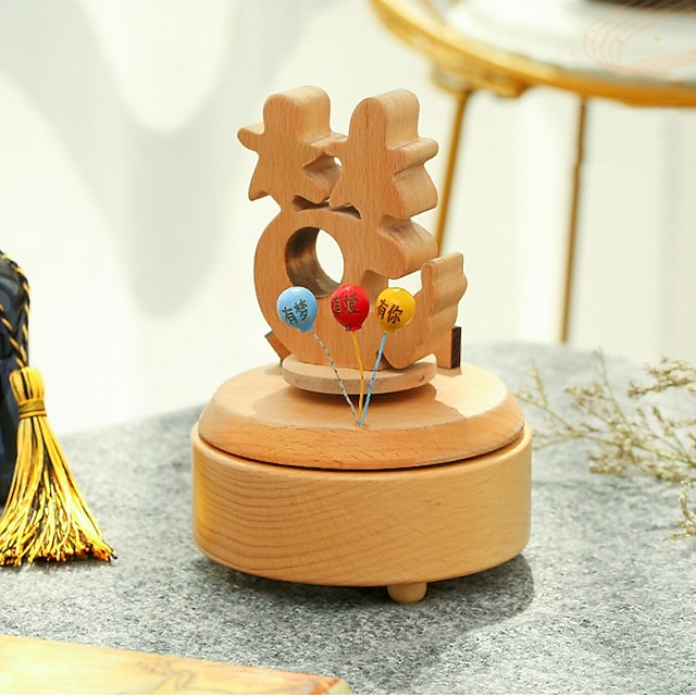 Music Box Wooden Music Box Antique Music Box Holiday Retro Creative Unique Wooden Women's All Girls' Kid's Adults Child's Adults' 1 pcs Graduation Gifts Toy Gift