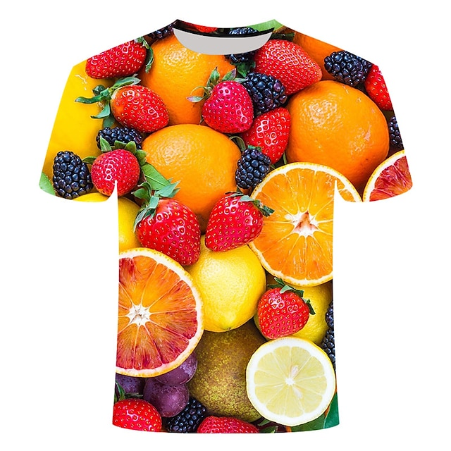 Homme T-shirt Géométrique Grandes Tailles Imprimé Manches Courtes Quotidien Hauts basique Chic de Rue Jaune
