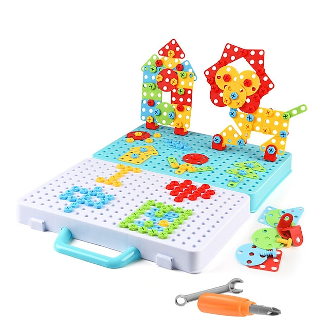 Bouwblokken Educatief speelgoed Bouwset speelgoed Schroef speelgoed Boorset 316 pcs Familie Peluw verenigbaar Plastic schelp Legoing Elektronisch DHZ Handgemaakt Jongens en meisjes Speeltjes Geschenk