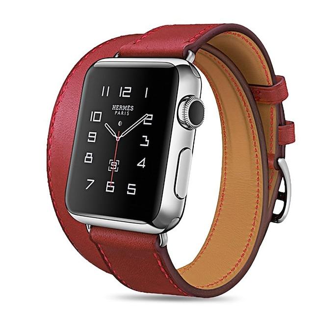 Cinturino intelligente per Apple  iWatch 1 pcs Banda di affari Di similpelle trapuntata Similpelle Sostituzione Custodia con cinturino a strappo per Apple Watch Serie 6 / SE / 5/4 44 mm Apple Watch