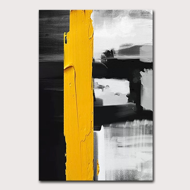 Oil Painting Hand Painted Vertical Abstract Pop Art Modern Stretched Canvas