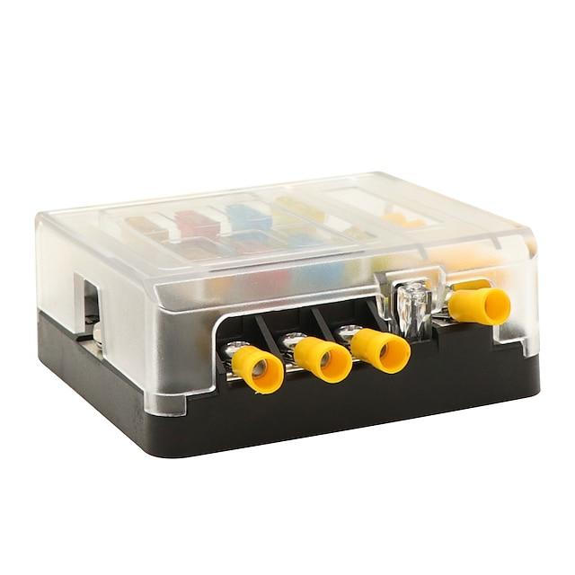 DC 30V 30A Boîte à fusibles 6 voies intégrée ABS + Disjoncteur de voiture portable PC