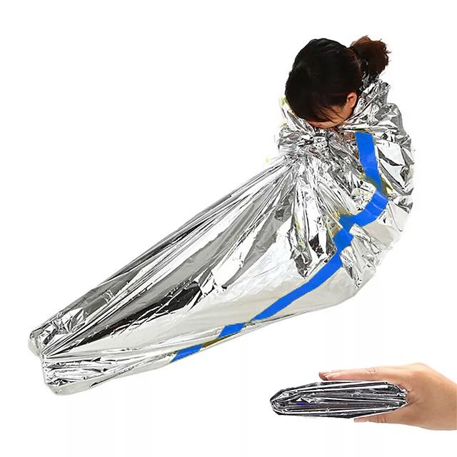 Nødtæppe Nødsovepose udendørs Camping Rektangulær sovepose til Voksen Hold Varm varme fastholde Varmeisolerede Foldning 200*100 cm Efterår Forår sommer til Jagt Klatring Camping / Vandring