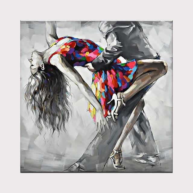 Tango Dancing Oil Painting Naked Sexy Woman Ballet Dancer Body Nude Oil Painting On Canvas Rolled Without Frame