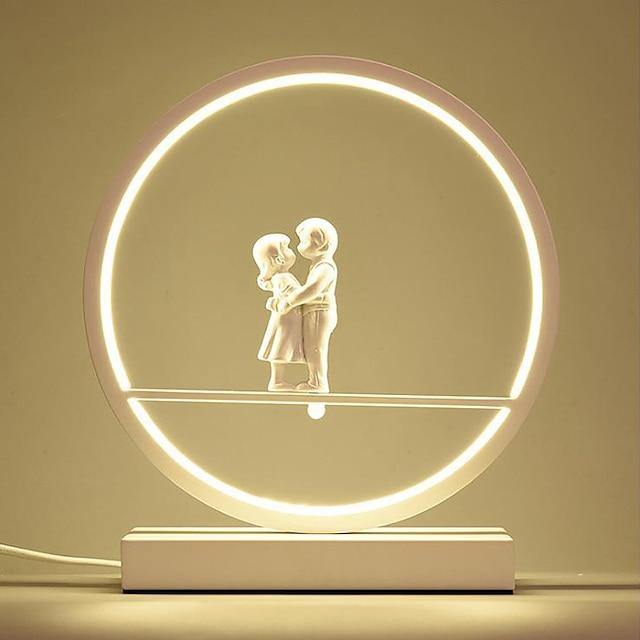 Stolna lampa / Uredska lampa LED / New Design Jednostavan LED napajanja Za Stambeni prostor / Spavaća soba Aluminij 85-265V Obala / Crn