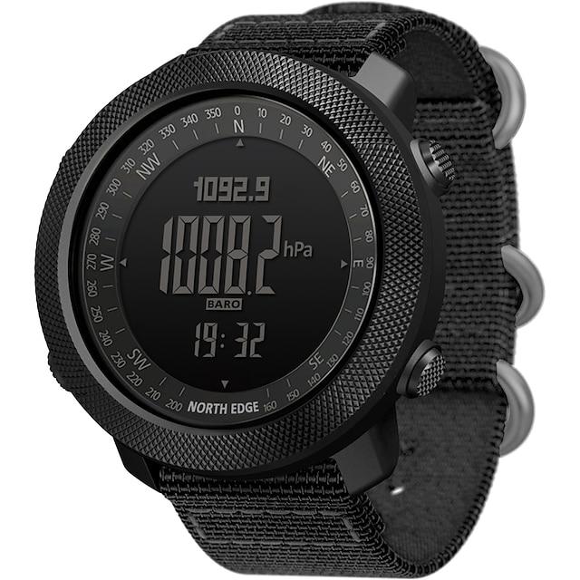 orologio militare da uomo north edge analogico - digitale digitale sportivo casual altimetro bussola giorno data