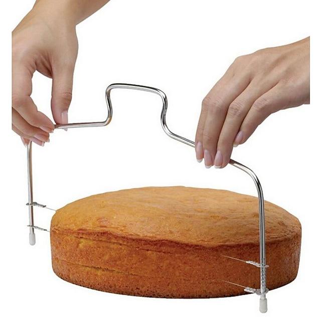 1 개 케이크 커터 조절가능 직사각형 스테인레스 베이킹 & 패스트리 도구 브레드