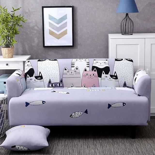 fodere per divani fodere per divani con stampa animalier fodere per divani proteggi tessuto in spandex forma morbida adatta con una federa gratuita adatta per poltrona/divano a due posti/tre