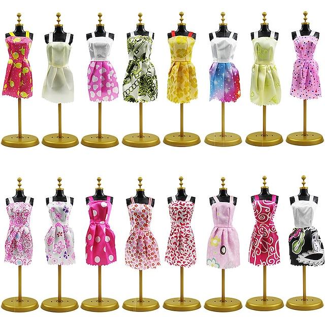 Accessoires de poupée Vêtements de Poupées Robe de poupée Vêtement Tulle Dentelle Tissus simple Créatif Kawaii Pour poupée de 11,5 pouces Jouet fait main pour les cadeaux d'anniversaire de fille