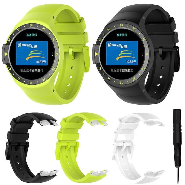 Akıllı Saat Bandı için TicWatch 1 pcs Spor Bantları Silikon Değiştirme Bilek Askısı için Ticwatch S