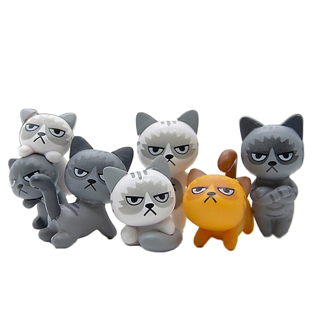 6kom lijepih nesretnih ljutitih mačaka akcijska figura igračka ukras sobe dječja igračka