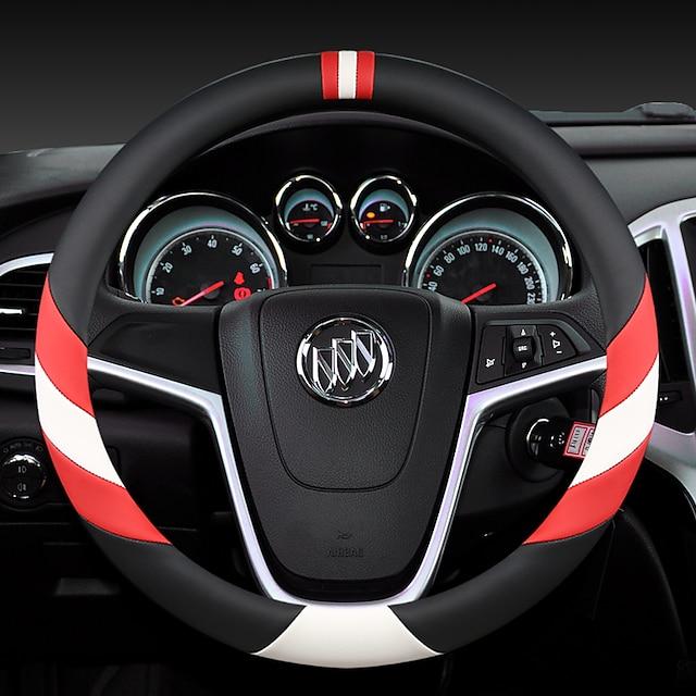 แฟชั่นพวงมาลัยครอบคลุมรถยนต์หนัง 38 เซนติเมตรระบายอากาศกันลื่นสำหรับ buick สี่ฤดูกาลอุปกรณ์รถยนต์